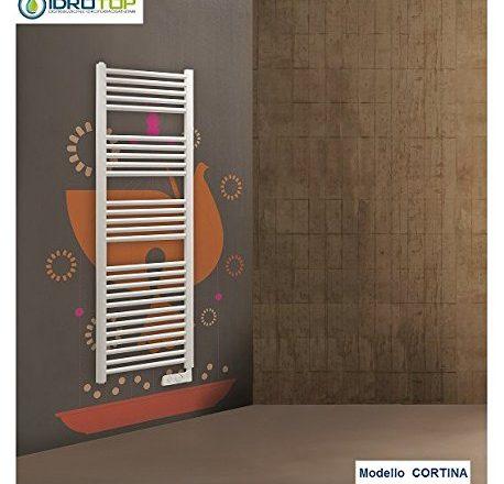 Scaldasalviette CORTINA elettrico bianco con termostato